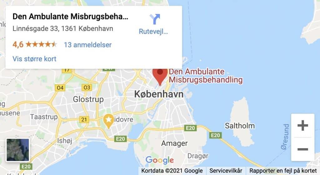 Den Ambulante Misbrugsbehandling - Linnésgade 33, 1361 København